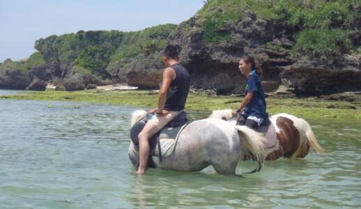 季節限定 海うま乗馬